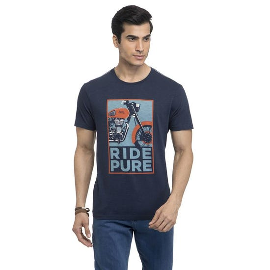 Ride Pure T-Shirt-Navy