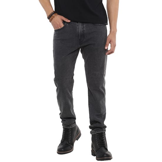 RE X LEVI'S 512 MOTORCYCLE TAPERED FIT JEANS- BATTLE WASHED GREY
