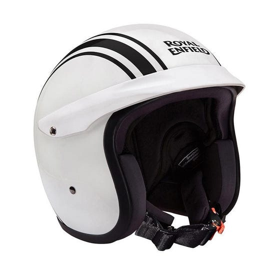 TWIN STRIPES SUNPEAK HELMET-GLOSS WHITE