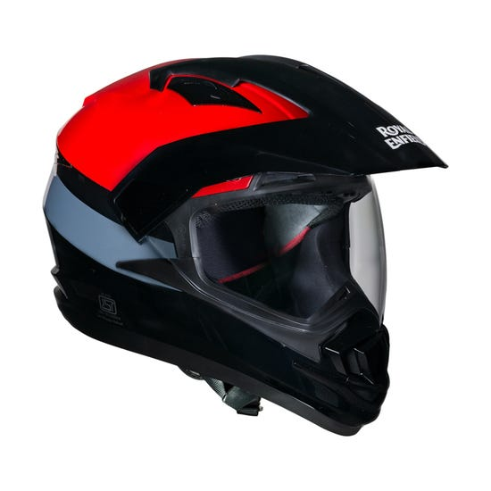 ESCAPADE STRIPE HELMET-GLOSS RED