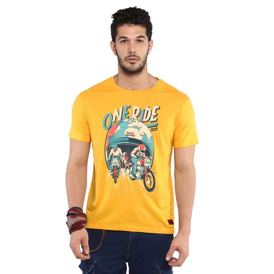 One Ride T-shirt-Yellow