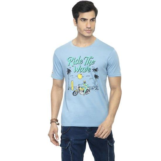 Ride The Wave T-Shirt-Air Blue