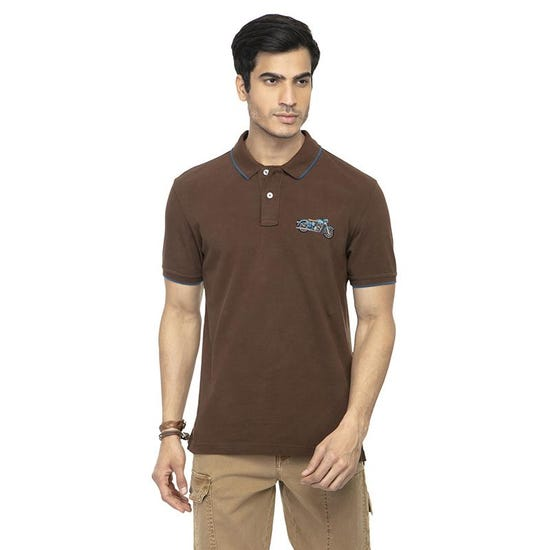 THE CLASSIC POLO T-SHIRT BROWN