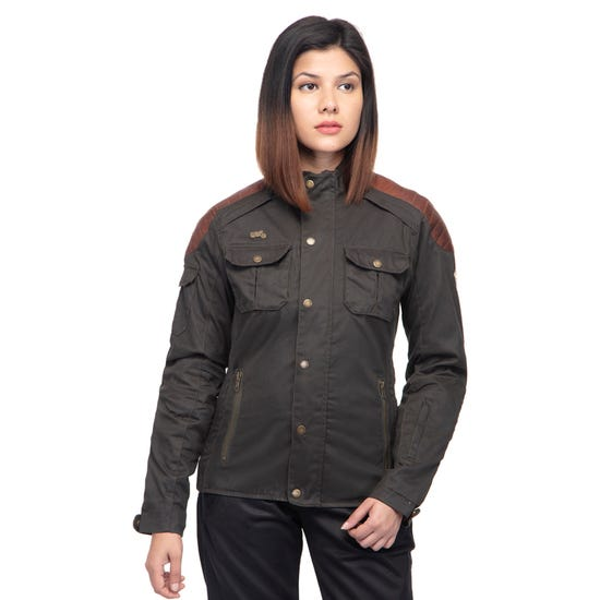 GIRLS ON WHEELS WOMEN RIDING JACKET -OLIVE