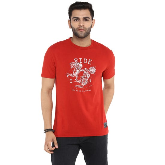 RE X LEVI'S LIKE NO ONE IS WATCHING T-SHIRT-RED
