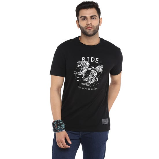 RE X LEVI'S LIKE NO ONE IS WATCHING T-SHIRT- BLACK