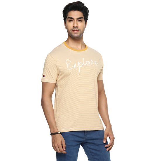 EXPLORE THE LINES T-SHIRT PALE MUSTARD
