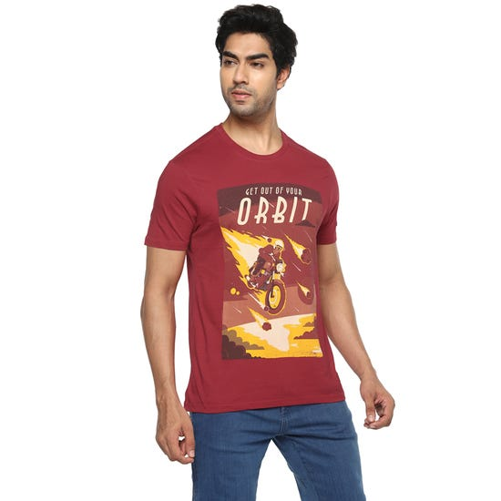 T-SHIRT METEOR-RED