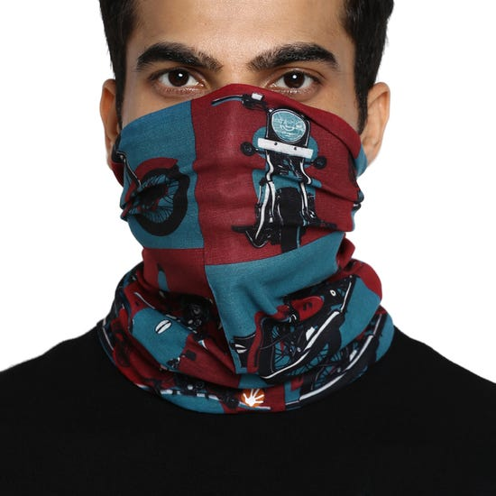 HIT THE ROAD HEADGEAR RED & BLUE