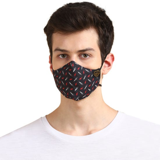 BARRICADE FACEMASK SPARK-CHARCOAL