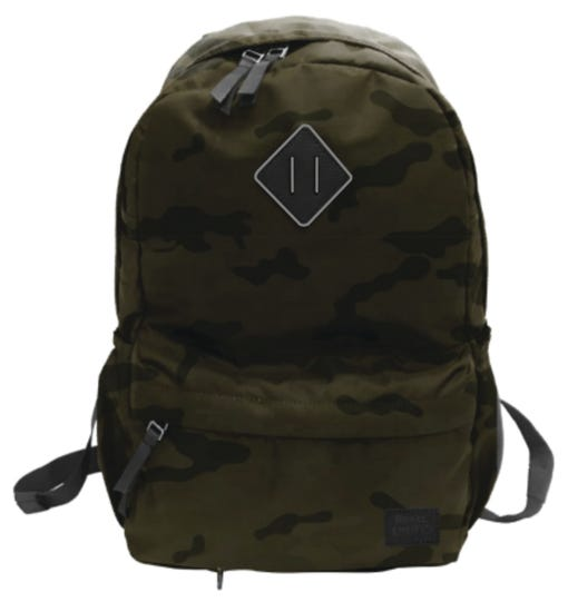 CAMO STYLE BACKPACK-OLIVE CAMO