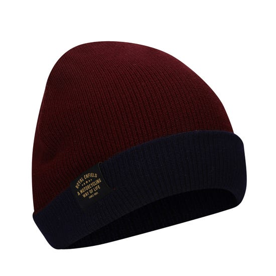 REVERSIBLE BEANIE - RED