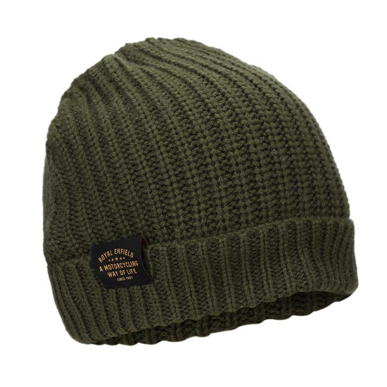 SOLID BEANIE - OLIVE