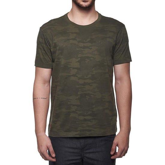 Camo Crew Neck T-Shirt Olive