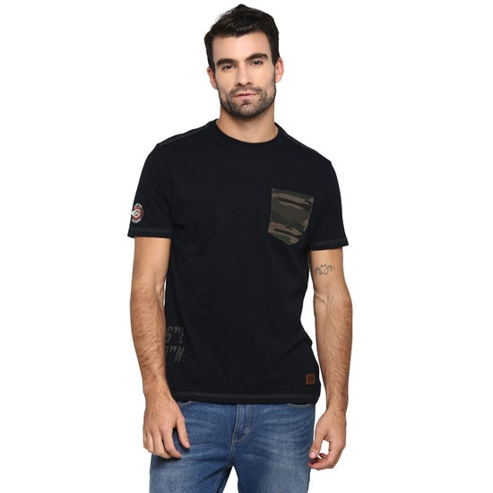 CAMO MLG T-SHIRT-BLACK
