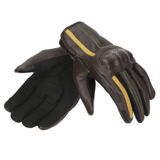 GRITTY GLOVES BROWN & YELLOW
