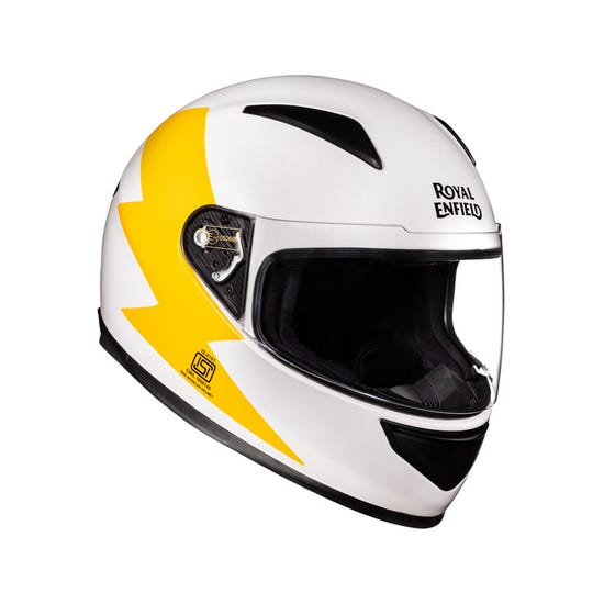 Street Prime Bolt Helmet-White & Yellow
