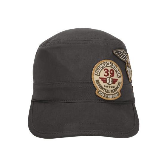 MILLITARY CAP-CHARCOAL
