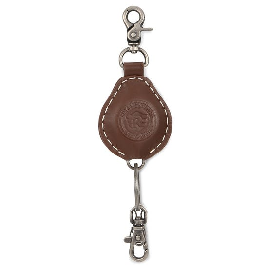 SPRING LOADED KEY CHAIN-BROWN