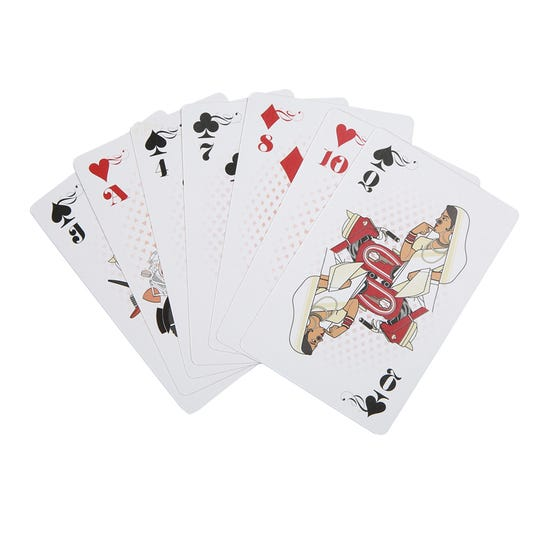 ROYAL ENFIELD PLAYING CARD - RED