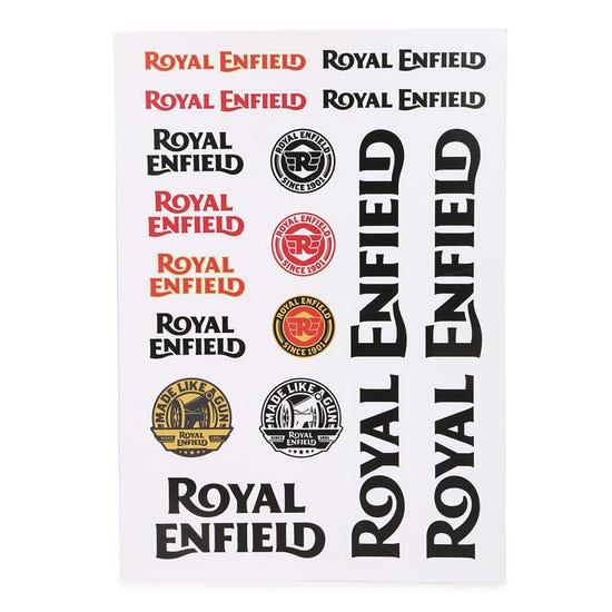 ROYAL ENFIELD LOGO STICKER -WHITE