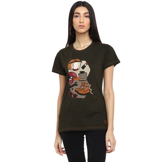 RIDE AS YOU ARE T-SHIRT-OLIVE