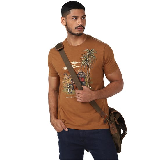 GORDON PALMTREE T-SHIRT-GOLDEN BROWN