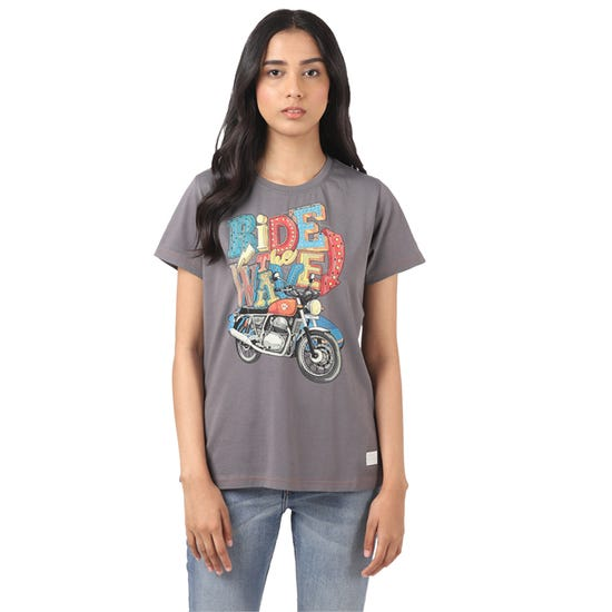 RIDE WAVE T-SHIRT-CHARCOAL