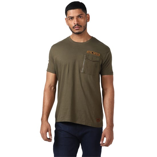 UNDER THE SUN T-SHIRT-OLIVE