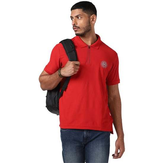RIDE ON POLO T-SHIRT-RED