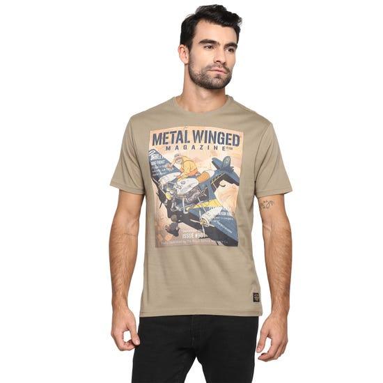 METAL WINGED AOM T-SHIRT-SAFARI