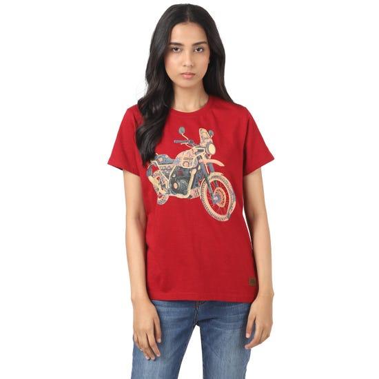 HIMALAYAN T-SHIRT-CHERRY RED