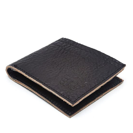 Distressed Leather Wallet Black