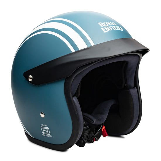 TWIN STRIPES SUNPEAK HELMET-MATT SQUADRON BLUE