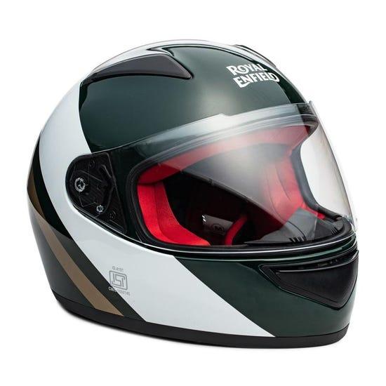 Street Prime Helmet True Stripes - Green & White