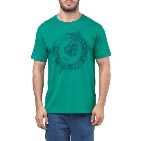 Twin Spark T-Shirt - Aqua Green