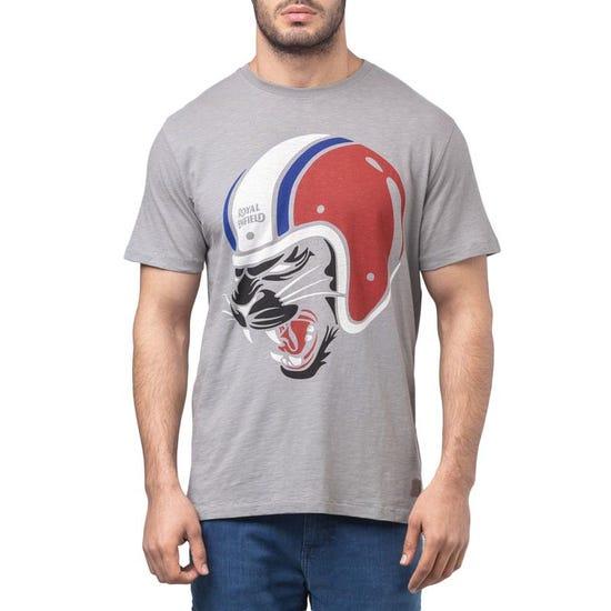 Black Cat T-Shirt - Grey