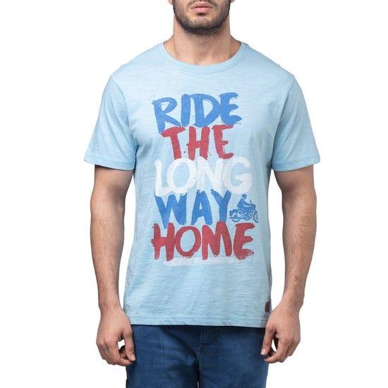 Long Way Home Graffiti T-Shirt - Skyblue