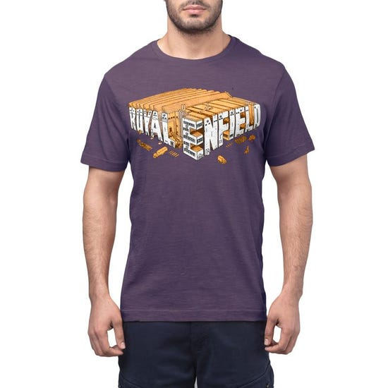 Isometric Factory T-Shirt - Charcoal