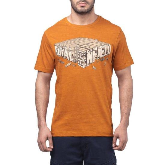 Isometric Factory T-Shirt - Rust