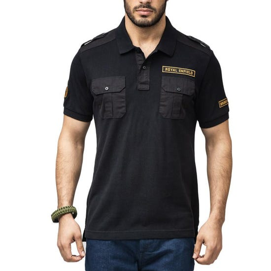 BRAVEHEART POLO T-SHIRT - BLACK