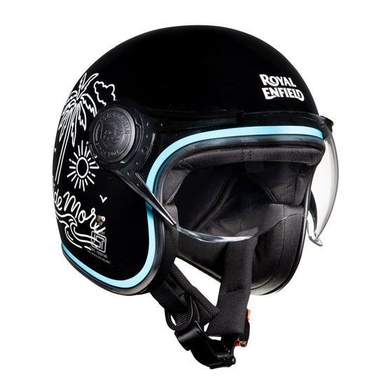 Ride More Open Face helmet-Black