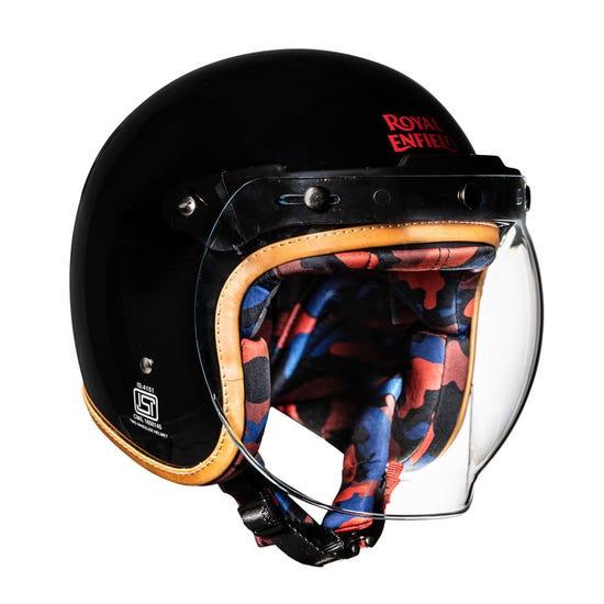 Camo imprint Bobber Helmet-Black
