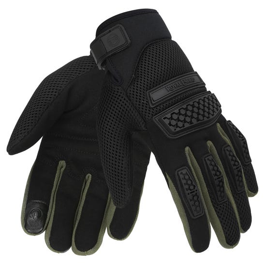 URBAN HUSTLER GLOVES-OLIVE & BLACK