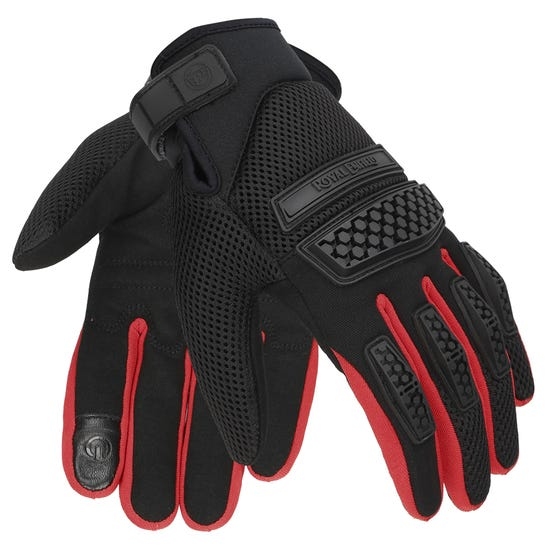 URBAN HUSTLER GLOVES-RED & BLACK