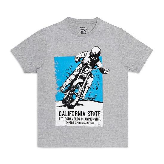 Big Bear Run Poster T-Shirt Melange Grey