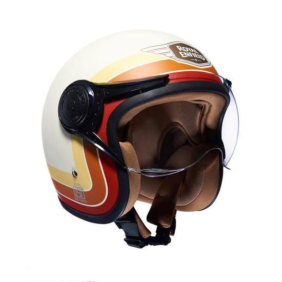 Border Stripes Helmet Matt White