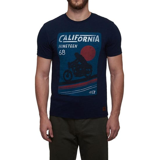 California Cool T-Shirt Navy Blue