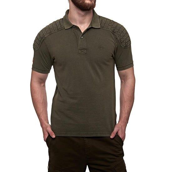 Classic Moto Polo T-Shirt Olive Green