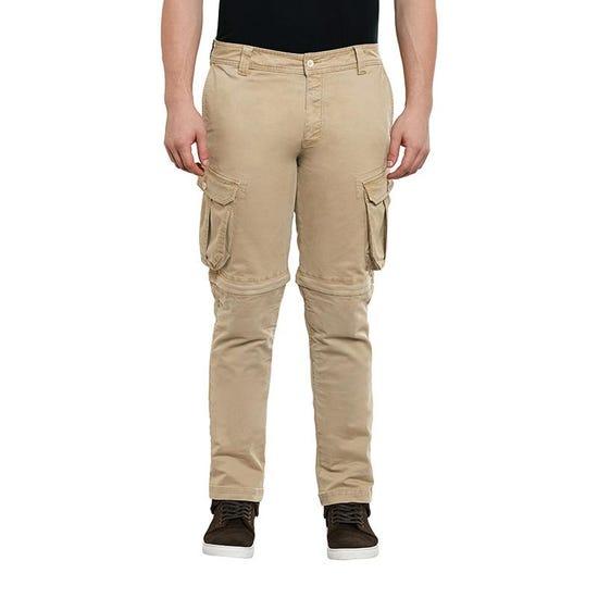 Convertible Cargo Pants Khaki Brown